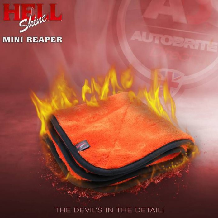 AutoBrite - HELLSHINE: The Mini Reaper! Super Plush Buffing Towel