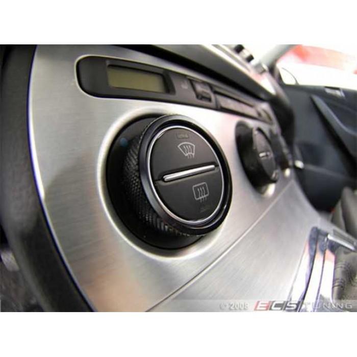 ECS Beauty Bezels, Knurled Black - Set Of 3 - Golf Mk5