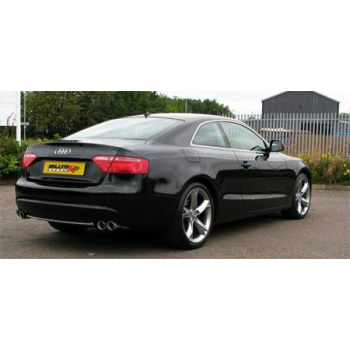 Milltek Cat Back Exhaust - A5 Coupé 3.0 TDi (DPF) Quattro - Quad Outlet