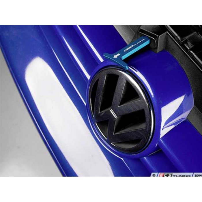 ECS Billet Aluminum Bonnet Pull Release Rod - Blue Anodized - Golf Mk4