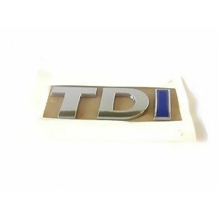 Blue TDI Rear Emblem Badge