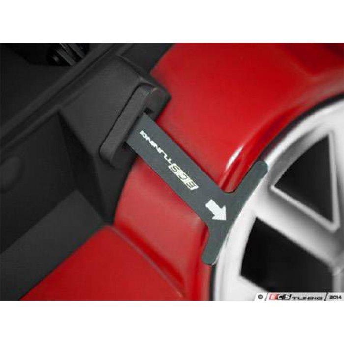 ECS Billet Aluminum Bonnet Pull Release Rod - Black Anodized - Bora