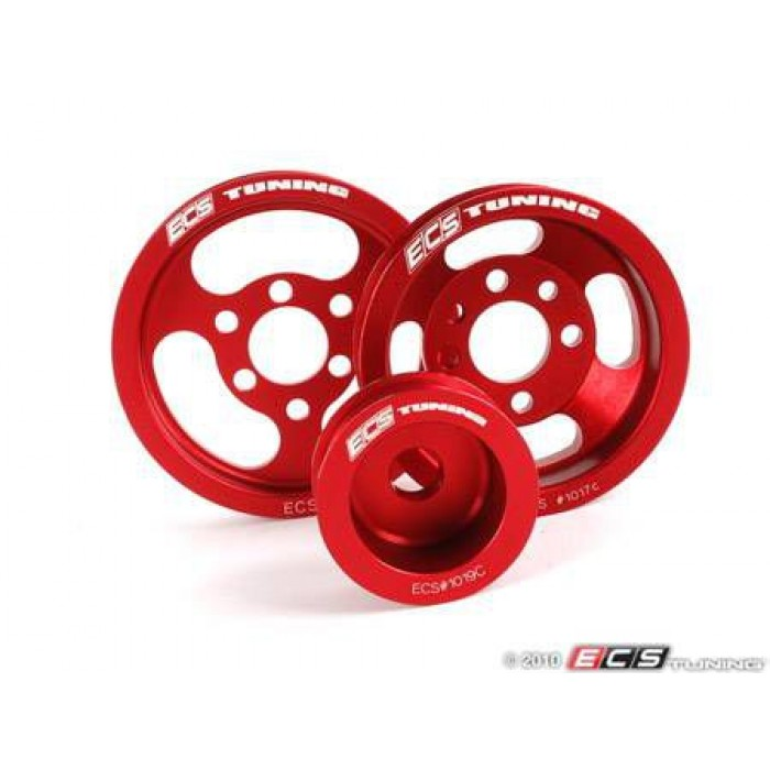 ECS Lightweight/Underdrive Pulley Set - 150/180/225 1.8T