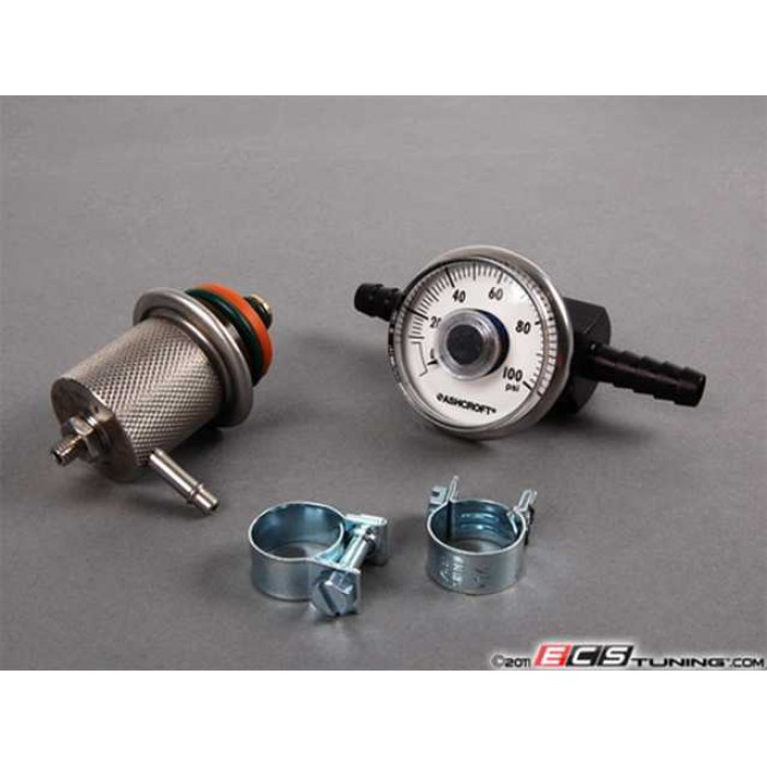 ECS Adjustable Fuel Pressure Regulator & Gauge Kit - 1.8T/2.0/VR6