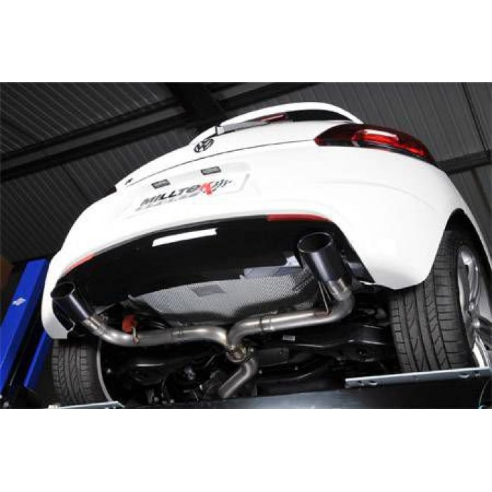 Milltek Non-Resonated Cat-back Exhaust - Scirocco R - Gloss Black Oval Tips