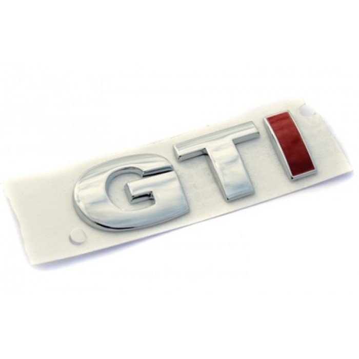 Rear GTI Red I Emblem Badge