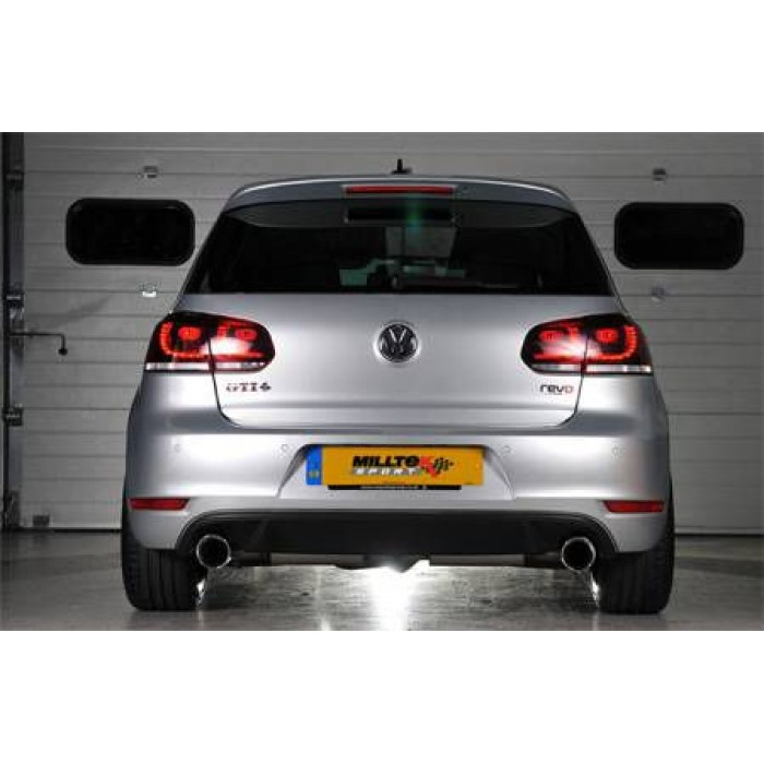 Milltek 3 Race System Cat-back Exhaust - Golf Mk6 GTi 2.0 TSI 210PS