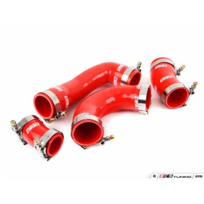 ECS High Flow Charge Pipe Coupler Kit (4) – Red – Mk7 GTI/R/S3 8V