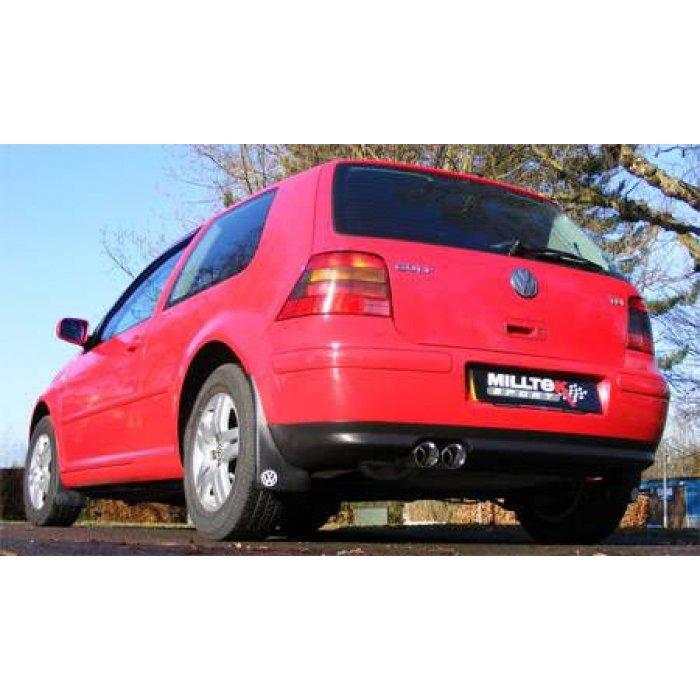 Milltek Non-Resonated Cat-back Exhaust - Golf Mk4 GTI 1.8T+TDI - Twin 80mm GT80