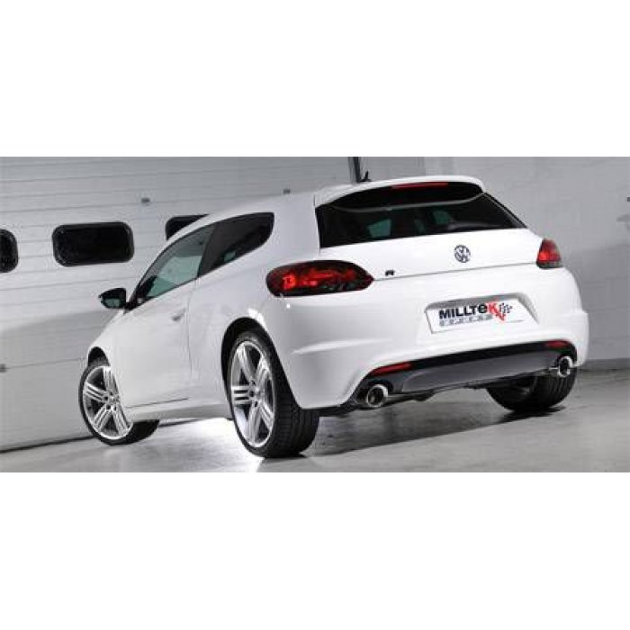 Milltek Non Res Turbo-back including Hi-Flow Sports Cat - Scirocco R - GT100 Tips