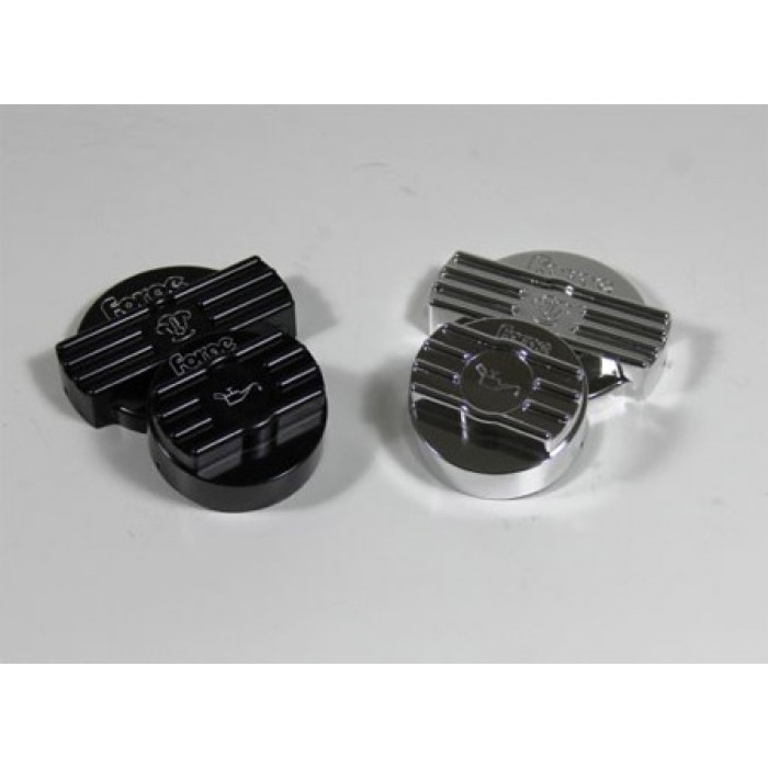 Forge Motorsport Alloy Oil & Water Cap Covers - MK5 Golf R32