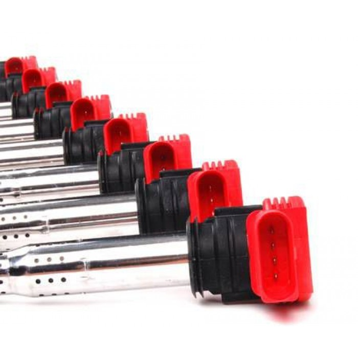 Genuine VAG Red Coil Pack Set - S5 V8/R8 4.2 V8/A6 4.2/RS4 B7