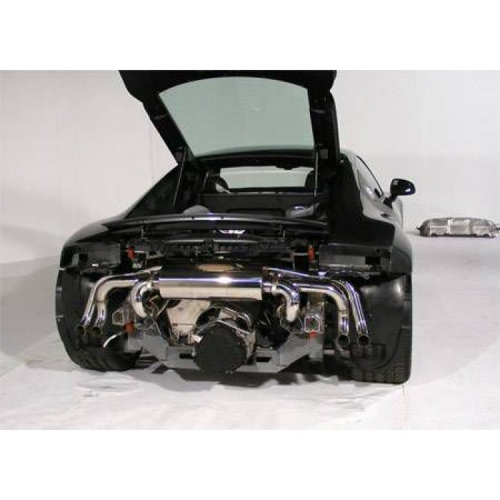 Milltek Non Resonated Cat-back Exhaust - R8 V8 4.2 FSI quattro - Removes secondary catalysts