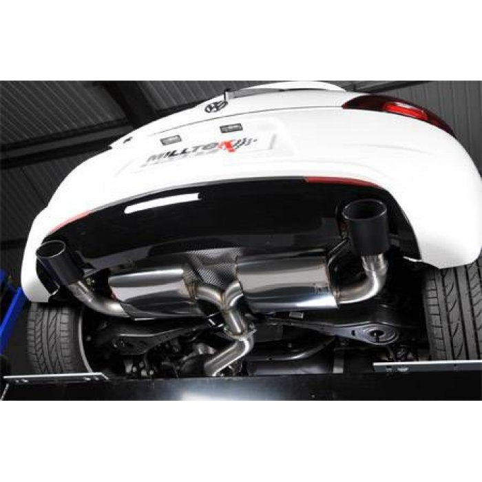 Milltek Resonated Cat-back Exhaust - Scirocco R - Gloss Black Oval Tips