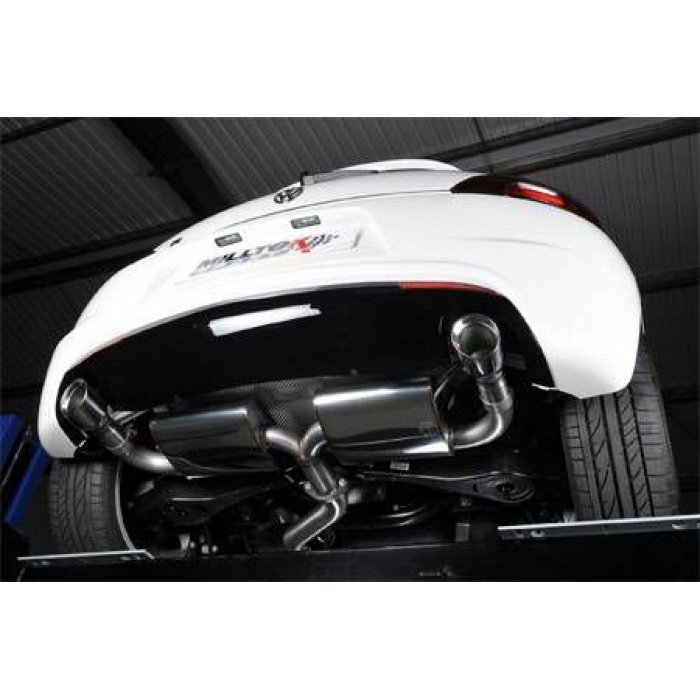 Milltek Resonated Cat-back Exhaust - Scirocco R - Dual 100mm GT100