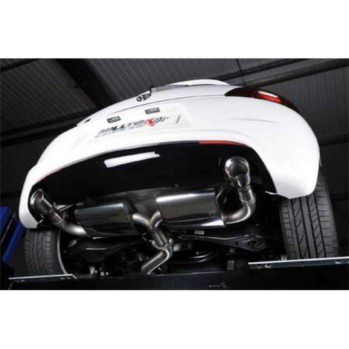 Milltek Resonated Cat-back Exhaust - Scirocco R - Dual 100mm GT100