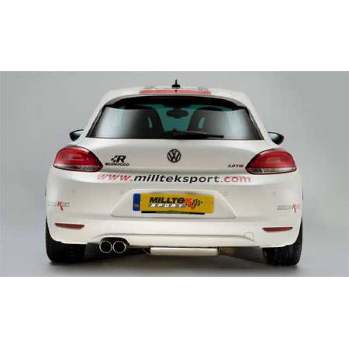Milltek Resonated Cat-back Exhaust - Scirocco GT 2.0 TSi 200PS
