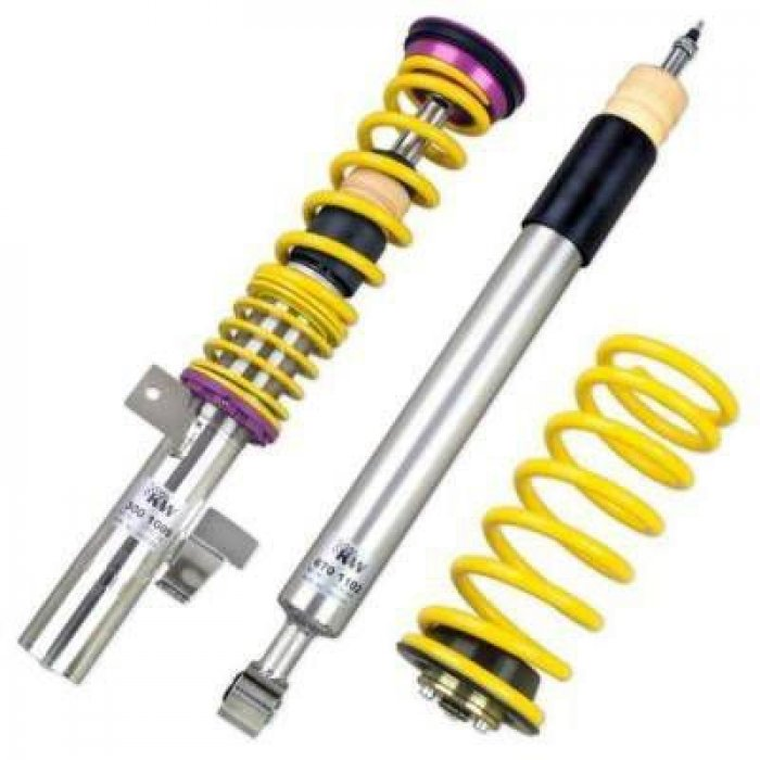 KW V2 INOX Coilover Kit - Caddy Maxi; (2K, 2KN) 2WD; except EcoFuel, susp strut diameter 55mm 12/07-