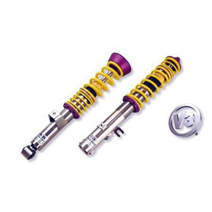 KW V3 INOX Coilover Kit - Caddy Maxi; (2K, 2KN) 2WD; except EcoFuel, susp strut diameter 55mm 12/07-