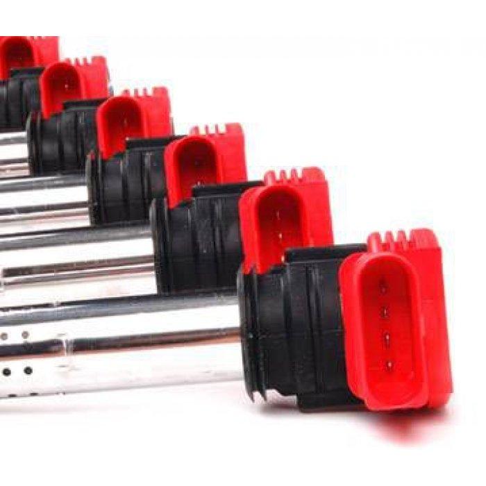 Genuine VAG Red Coil Pack Set - 3.2 V6 A3 8P/TT Mk2/B7 A4/B8 A4/A5/