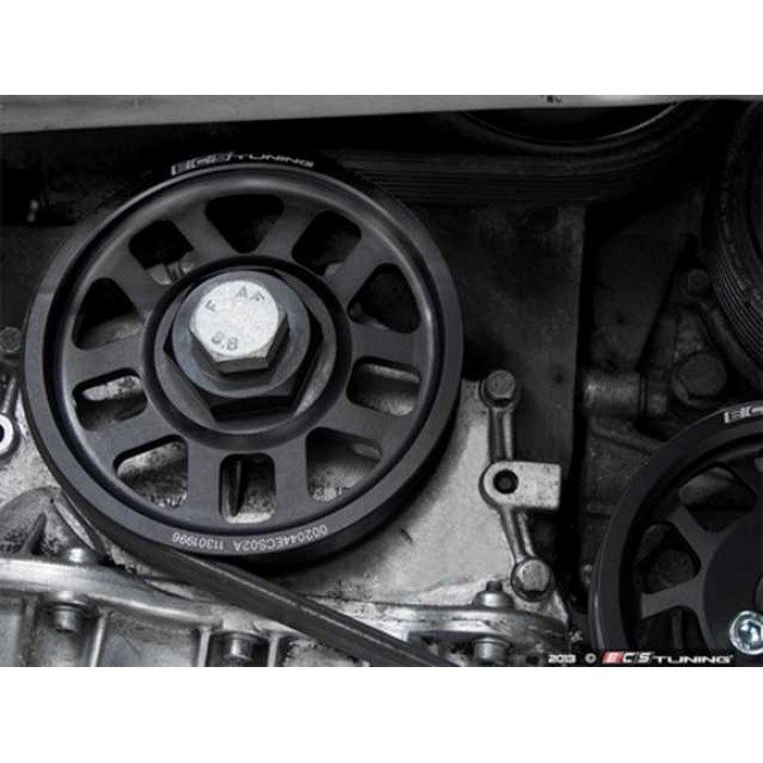 ECS Super-Lightweight Crank Pulley - Black - Golf Mk3 VR6/Corrado VR6