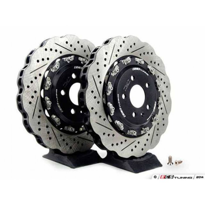 ECS Tuning Front 2-Piece Wave Brake Discs - Pair (365x34) - A4 B8/S4/A5/RS5/R8